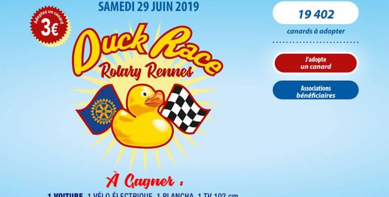 Duck Race du 29 juin 2019 prochain